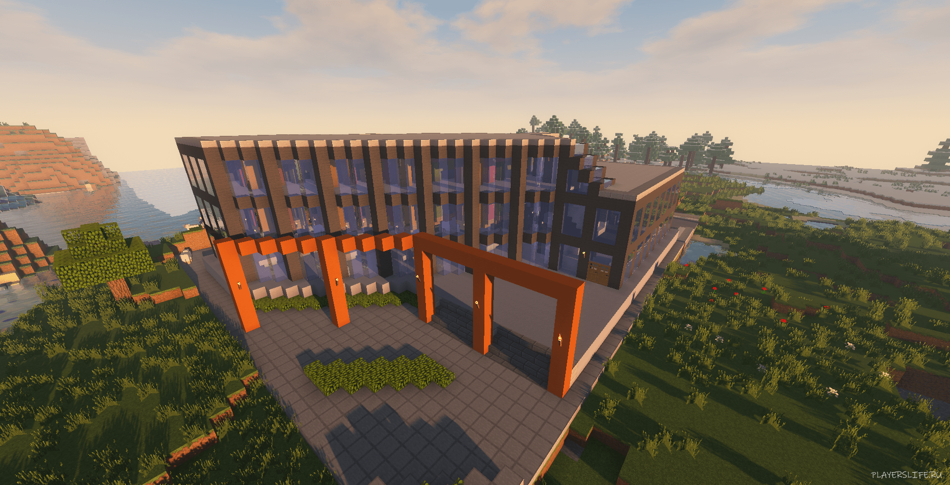 мод на готовые дома Instant Massive Structures Mod для